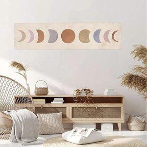 Boho Abstract Art Moon Phase Tapestry Minimalist